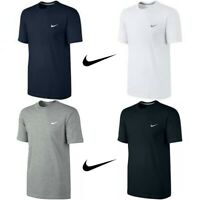 New Mens Nike T-Shirt Gym Cotton Sports Crew Neck Swoosh Logo T-Shirts S M L XL