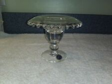 Rare Imperial Candlewick Rolled Edge Candleholder Inventory Reduction Sale