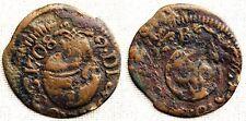 España-Carlos III (Pretendiente). 1 Ardit 1708. Barcelona. MBC-/VF- Cobre. 1 g.