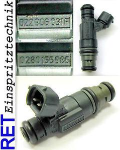 Einspritzdüse BOSCH 0280155985 VW Golf 4 2,3 V 5 022906031F gereinigt & geprüft