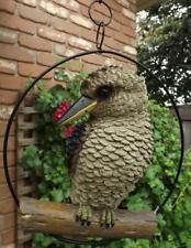 Realistic Kookaburra in Hanging Ring Australian Bird Garden Ornament 25 cm
