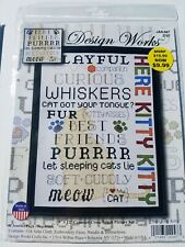 Design Works Counted Cross Stitch Here Kitty Kitty Made in USA