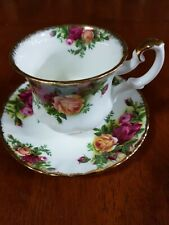 """Royal Albert Bone China """"Old Country Roses"""" 1 x Coffee Cup and Saucer. Vintage"""
