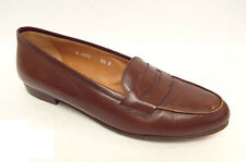 RALPH LAUREN Collection Size 6.5 Brown Leather Penny Loafers Flats Shoes 6 1/2
