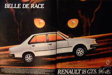 PUBLICITÉ 1981 RENAULT 18 GTS 96 CV BELLE DE RACE - CHAT - ADVERTISING