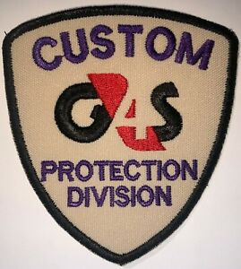 G4S Protection Division Security Mercenary Soldier Patch Hook&Sew Repro New A600
