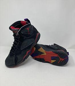1992 Air Jordan 7 VII OG raptors black/purple/red men's size 8 pre-owned