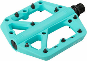 """Crank Brothers Stamp 1 Pedals - Platform, Composite, 9/16"""", Turquoise, Small"""