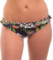 PUREDA MILLY BIKINI BRIEF SIZE 10 16 NAVY BLUE FLORAL FRILLED SKIRTED BOTTOM NEW