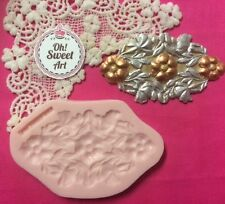Flowers Vintage Scroll silicone mold fondant cake decorating food wax soap jewel