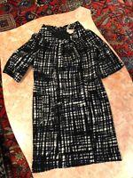 f41e1b6e85 Michael Kors Black and White jumper dress bubble skirt sleeveless ...