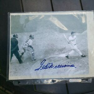 Ted Williams Autographed Photo With Certification Herman Darvick
