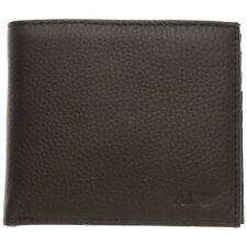 Armani Jeans Mens Black AJ Logo Genuine Leather Wallet BNWB