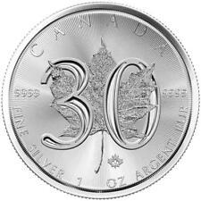 Kanada 5 Dollar 2018 - 30 Jahre Maple Leaf - Jubiläums Ausgabe 1 Oz Silber ST