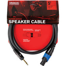 Speaker Cable Lead 3m 3.0m 3.0 metres 10ft x 6.3mm Mono Jack to Jack AMP TO CAB