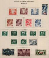 Poland 1938/9 range of issues with Independence to 3z, Winter Relief, Ski Stamps
