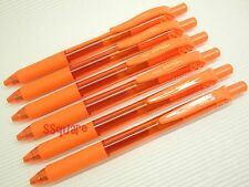 6 x Pentel EnerGel Ener Gel BL107 0.7mm Metal Tip Rollerball Gel Ink Pen, Orange