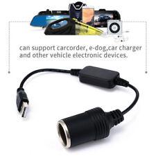 USB Port to 12V Auto Car Cigarette Lighter Socket Converter Charger Adapter