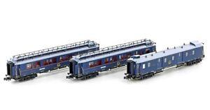 "HS Hobbytrain H22106 3er Set Personenwagen  CIWL ""Simplon Orient Express"" Sp N"