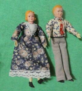 Vintage German CaCo Dollhouse Doll - Vintage CaCo Older Blonde Man and Women