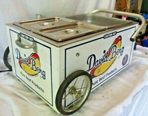 RARE! Famous Chicago David Berg Hotdog Stand Cart Warmer FAST SHIPPING!