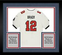 Framed Tom Brady Tampa Bay Buccaneers Autographed White Nike Game Jersey