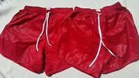 2 New Vintage Soffe Shiny Nylon Soccer Lightweight Running Shorts Glanz Size M