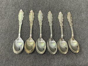 Antique Gorham Sterling Silver Luxembourg Pattern Set of 6 Spoons Mermod Jaccard