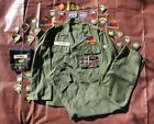 1960s Vietnam Era Grouping Collection Uniform Patches Pins Small Sateen 30x32