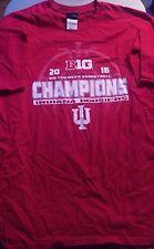 Men's Size Large Indiana University Big Ten Basketball Champions T-Shirt