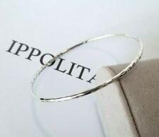 IPPOLITA - Hammered Sterling Silver Bangle Bracelet - Stunning!