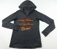 NBA Cleveland Cavaliers Womens Lightweight LS Gray Hoodie Sweatshirt Adidas M