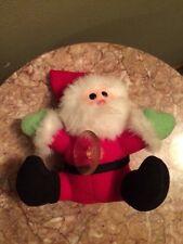 "Vintage 1988 Dakin SANTA Claus 5"" Plush Stuffed Suction Christmas Cup Car window"