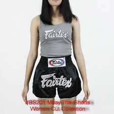 Fairtex Muay Thai Kick Boxing Satin Shorts Women Cut Bs201 Mma K1 Fairtex Logo