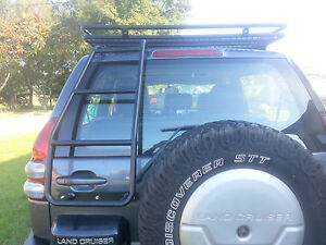 Toyota Land Cruiser 120  Roof Access Ladder Off-Road 4X4 rack