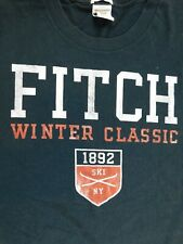 Vtg Abercrombie & Fitch Blue Winter Classic Graphic T-Shirt XL Made In USA 90s