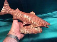Australia Zebra Stone Stromatolite Rainbow Trout Fish Carving Original Museum