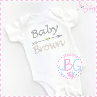 Personalised Embroidered Baby Vest/Onsie, Baby Shower/New Baby Gift, Unisex Grow