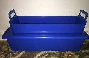 """Blue Cidex 82016  Instrument Tray System with Insert 20"""" x 7"""