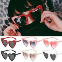 2018 NEW Retro Women Fashion Lolita Heart Shaped Sunglasses Shades Eyeglasses AU