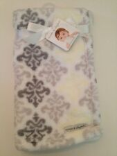 Blankets And & Beyond Baby Boys Girl Blanket Grey White Yellow Paisley Layette