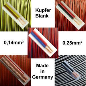 Kabel Zwillingslitze 0,14mm² oder 0,25mm² 5 Farbkombinationen zur Auswahl