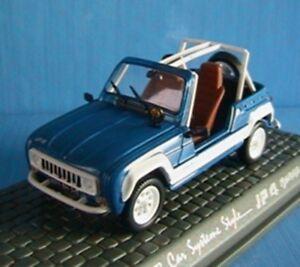 RENAULT CAR SYSTEME STYLE JP4 BEBOP 1981 1/43 UNIVERSAL HOBBIES NEW BLUE BLEU