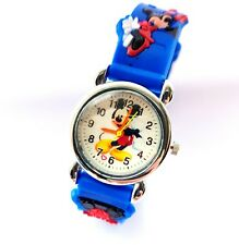 Mickey Mouse Wrist Watch Learn Time Soft Silicone Strap Boys Children Gift