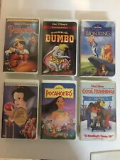 Lot of 6 Walt Disney Various Clamshell VHS Movies