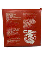 Vintage CB Radio Stadium Seat Cushion Glossary & Radio Codes Red