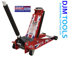 Sealey 2001LEU Trolley Jack 2.25T LowEntry RocketLift Union Flag LIMITED EDITION