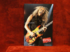 TWO Metallica *Kirk Hammett* EMG & Ernie Ball Promo Posters<<>>TWO