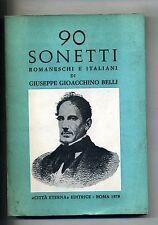 Giuseppe Gioacchino Belli#90 SONETTI ROMANESCHI ED ITALIANI#Città Eterna 1978