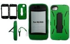 iPhone 4 and 4S Shock Hard Proof with Pen Green case cover Mobile Survivor UK